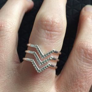 Chevron Pave Ring